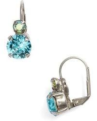 Sorrelli - Round Crystal Drop Earrings - Lyst