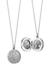 Monica Rich Kosann - Round Floral Locket Necklace - Lyst