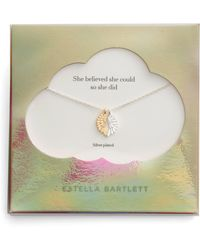Estella Bartlett - She Believed She Could Wings Necklace - Lyst