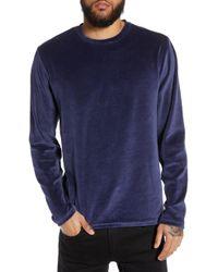 The Rail - Velour Long Sleeve T-shirt - Lyst