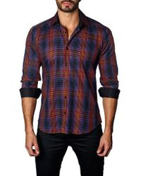 Jared Lang - Trim Fit Ombre Plaid Sport Shirt - Lyst