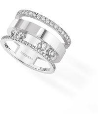 Messika - Three Row Move Romane Diamond Ring - Lyst