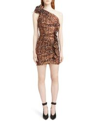 Isabel Marant - Synee One Shoulder Metallic Jacquard Dress - Lyst