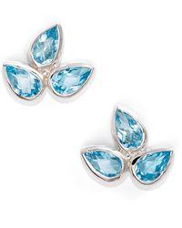Anzie - Micro Bouquet White Topaz Post Earrings - Lyst