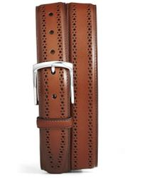 Allen Edmonds - Manistee Brogue Leather Belt - Lyst