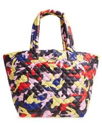 MZ Wallace - 'medium Metro' Quilted Oxford Nylon Tote - Purple - Lyst