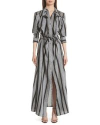 Y. Project - Long Stripe Linen Shirtdress - Lyst