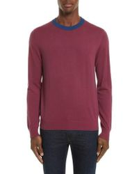 PS by Paul Smith - Ministripe Crewneck Sweater - Lyst