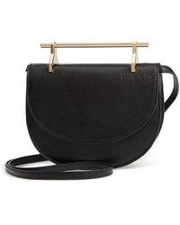 M2malletier - Half Moon Lux Calfskin Leather Crossbody Bag - - Lyst