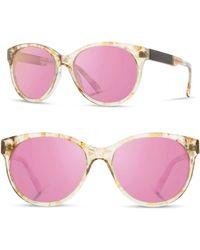 Shwood - 'madison' 54mm Polarized Sunglasses - Blossom/ Ebony/ Rose Flash - Lyst