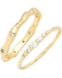 Gorjana - Collette Set Of 2 Rings - Lyst