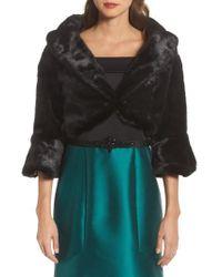 Eliza J | Faux Fur Jacket | Lyst
