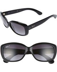 Ray-Ban - 58mm Polarized Sunglasses - - Lyst