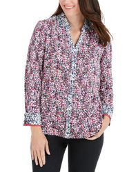 Foxcroft - Mary Garden Party Wrinkle Free Shirt - Lyst