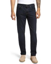 7 For All Mankind - 7 For All Mankind The Straight Slim Straight Leg Jeans - Lyst