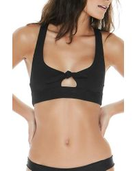 L*Space - Tara Ribbed Bikini Top - Lyst