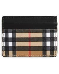 Burberry - Horseferry Leather Card Case - - Lyst