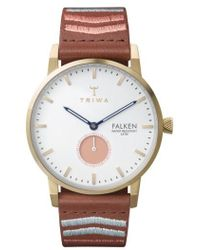 Triwa | Falken Embroidered Leather Strap Watch | Lyst