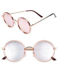 Privé Revaux - X Madelaine Petsch The Street 53mm Round Sunglasses - - Lyst