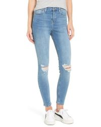 TOPSHOP | Moto Jamie Ripped High Waist Ankle Skinny Jeans | Lyst