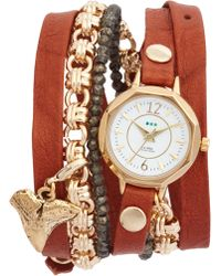 La Mer Collections - Del Mar Leather & Chain Wrap Watch - Lyst
