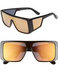 67672a084a Tom Ford 0710 Atticus Shield Sunglasses in Gray - Lyst