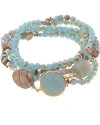 Nakamol - Three Stone Wrap Bracelet - Lyst