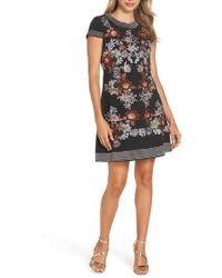 Foxiedox - Retro Flowers Embroidered Mini Dress - Lyst