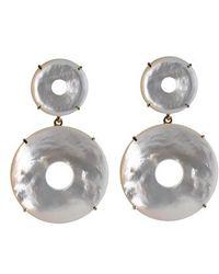 Asha | Elizabeth Mother-of-pearl Drop Earrings | Lyst