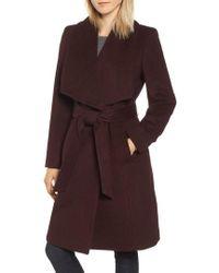 Cole Haan - Slick Wool Blend Wrap Coat - Lyst