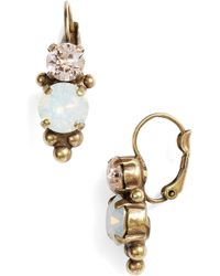 Sorrelli - Ornate Crystal Rounds Drop Earrings - Lyst