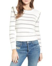 Cupcakes And Cashmere - Bryant Ruffle Stripe Sweater - Lyst