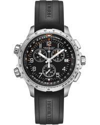 Hamilton - Khaki Aviation X-wind Chronograph Gmt Silicone Strap Watch - Lyst