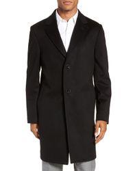 Nordstrom - Darien Solid Cashmere Overcoat - Lyst