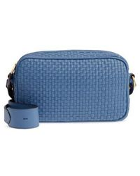 Cole Haan - Zoe Rfid Woven Leather Camera Bag - - Lyst