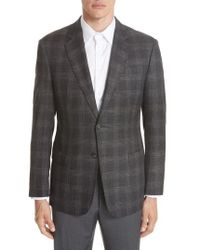 Emporio Armani - G-line Trim Fit Plaid Sport Coat - Lyst