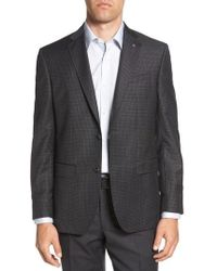 Ted Baker - Jed Trim Fit Microcheck Wool Sport Coat - Lyst