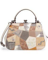 e02d3a880845 Lyst - Michael Kors Mercer Large Floral Patchwork Leather Tote Bag ...
