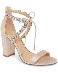 Badgley Mischka | Thamar Embellished Sandal | Lyst