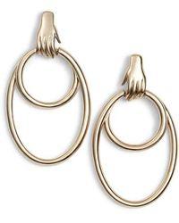 Tory Burch - Surreal Hand Hoop Earrings - Lyst