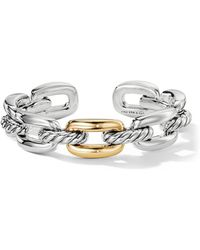 David Yurman - Wellesley Link Single Stack Bracelet With 18k Gold - Lyst