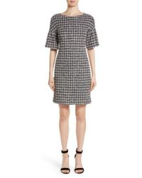 St. John | Metallic Tweed Bell Sleeve Dress | Lyst
