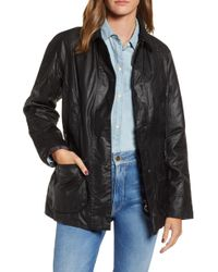 Barbour - 'Beadnell' Waxed Cotton Jacket - Lyst