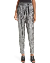 Brochu Walker - Nives Metallic Velvet Pants - Lyst