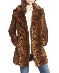 Kensie - Faux-fur Leopard Coat - Lyst