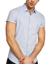 TOPMAN - Skinny Fit Slub Shirt - Lyst