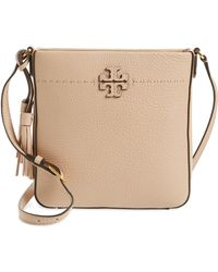 04647445c Tory Burch Mcgraw Top-zip Cross-body Bag in Gray - Lyst
