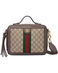 f7d222f9a Gucci Gg Supreme Messenger Bag - Vintage in Brown - Lyst