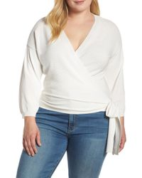 Vince Camuto - Side Tie Wrap Sweater - Lyst
