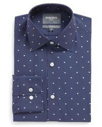 Bonobos | Slim Fit Dot Stretch Dress Shirt | Lyst
